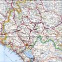 Фото Большая карта Черногории
