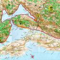 Бока Которска - Карта Боко-которского залива