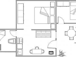 Апартамент в Святом Стефане за 45 €  в сутки